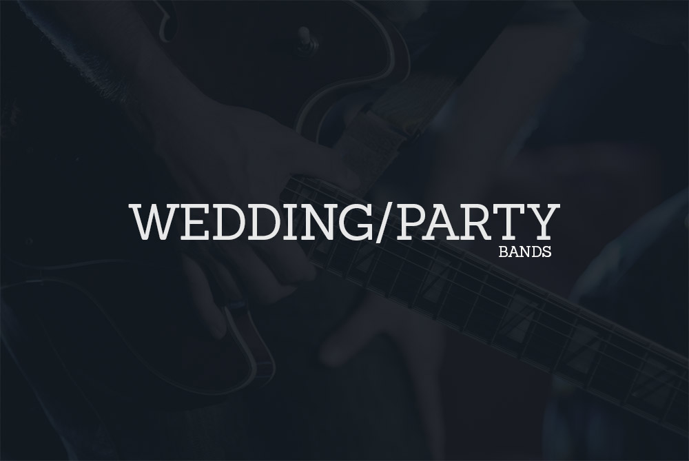 Live covers band, Wedding bands